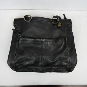 The Sak Black Leather Tote Bag Purse